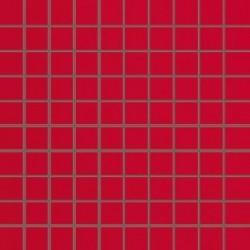Mozaika szklana Red 30x30 kostka 2,8 cm