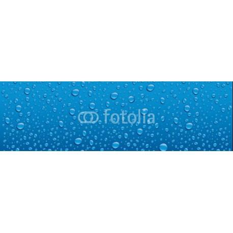 Panele szklane water drops on blue background