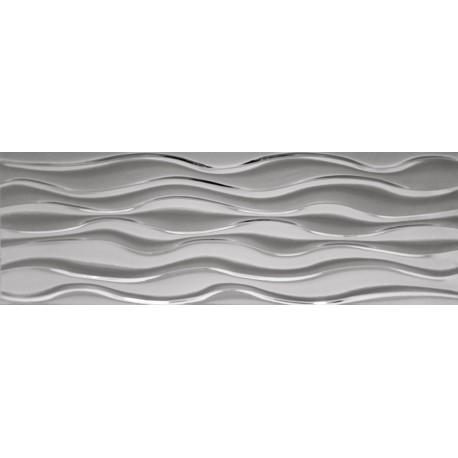 Płytka ceramiczna srebrna MTL SILVER VICTORIA WAVES 30x90
