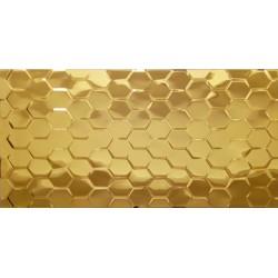 Płytka ceramiczna złota MTL GOLD CLEO HEX 30x60