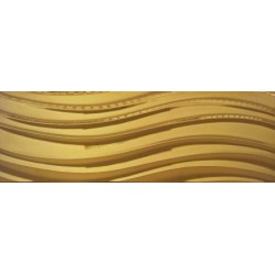 Płytka ceramiczna złota MTL GOLD CARLO WAVES 30x90