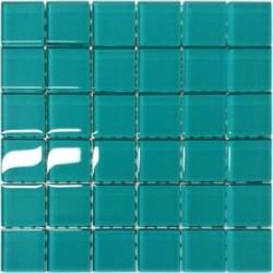 Mozaika szklana Turkus 30x30 kostka 4,8 cm
