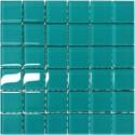 Mozaika szklana Turkus 30 x 30 kostka 4,8 cm