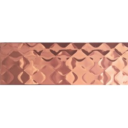 Metallized ceramic tile MTL COPPER MIKA STRUCTURE 25x75