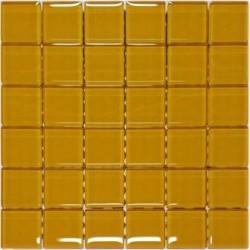 Mozaika szklana Żółta 30 x 30 kostka 4,8 cm