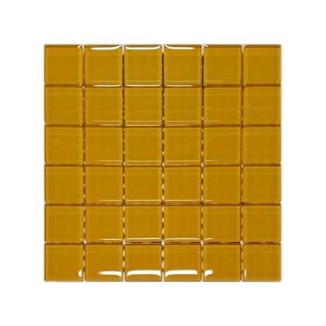 Mozaika szklana Żółta 30x30 kostka 4,8 cm