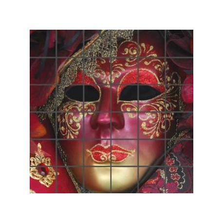 Mozaika szklana Maska Wenecka 1
