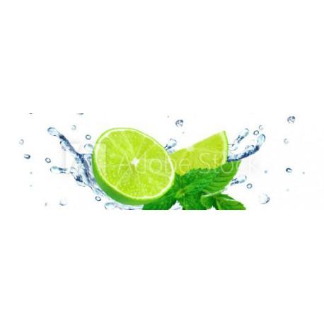 Panele szklane lime and water splash