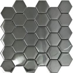 Mozaika MS-109 Hex L Srebrna Mat 24,8x25,8