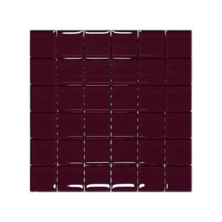 Mozaika szklana Burgund 30 x 30 kostka 4,8 cm