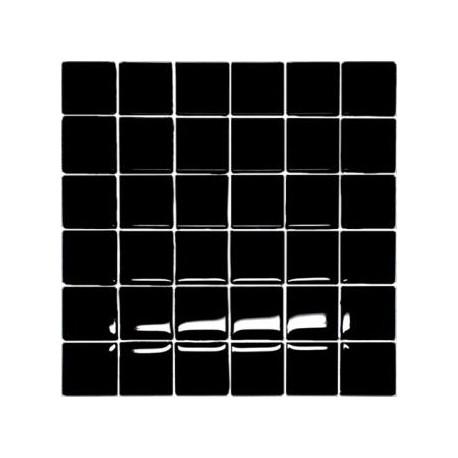 Mozaika szklana Czarna 30 x 30 kostka 4,8 cm