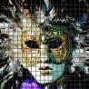 Mozaika szklana Maska Wenecka 3