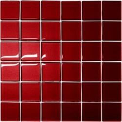 Mozaika szklana Czerwień 30 x 30 kostka 4,8 cm