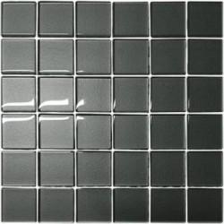 Mozaika szklana Grafit 30 x 30 kostka 4,8 cm