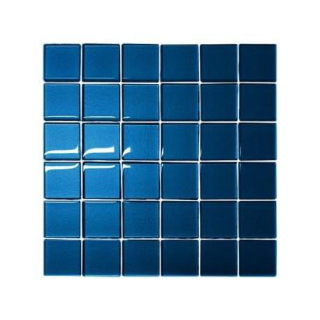 Mozaika szklana Niebieska 30x30 kostka 4,8 cm