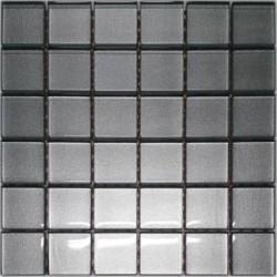 Mozaika szklana Srebro 30 x 30 kostka 4,8 cm