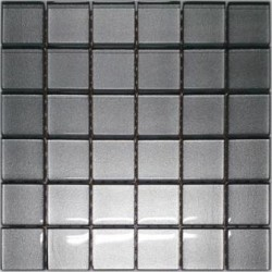 Mozaika szklana Srebro 30x30 kostka 4,8 cm