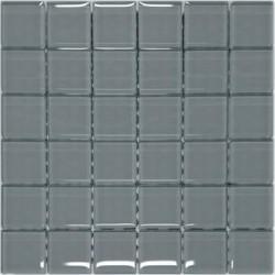Mozaika szklana Szara 30 x 30 kostka 4,8 cm