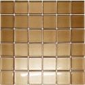 Mozaika szklana Brąz 30 x 30 kostka 4,8 cm