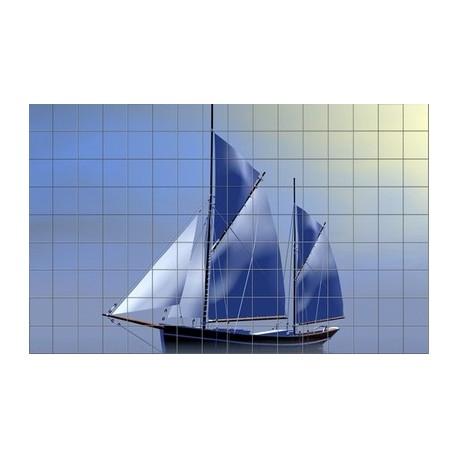 Mozaika szklana Żaglówka 5