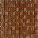 Mozaika szklana Brąz Paski 30 x 30 kostka 2,8 cm 1F2