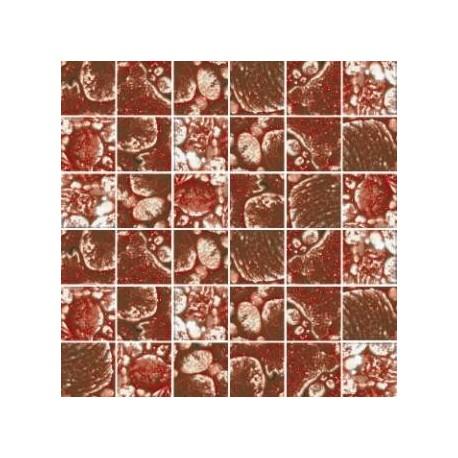 Mozaika szklana Złoto-Brąz Skałka 30 x 30 kostka 4,8 cm