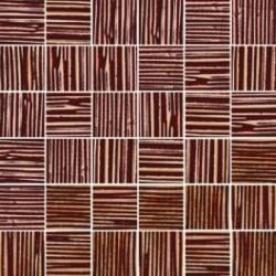 Mozaika szklana Złoto Brąz Paski 30x30 4,8 cm