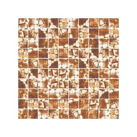 Mozaika szklana Złoto-Bursztyn Skałka 30 x 30 kostka 2,8 cm