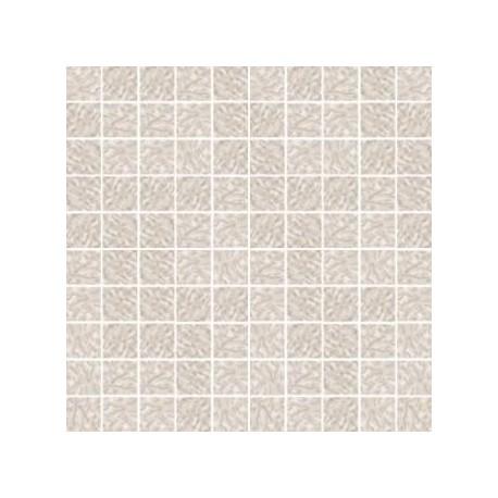 Mozaika szklana Biały Marmurek 30x30 kostka 2,8 cm