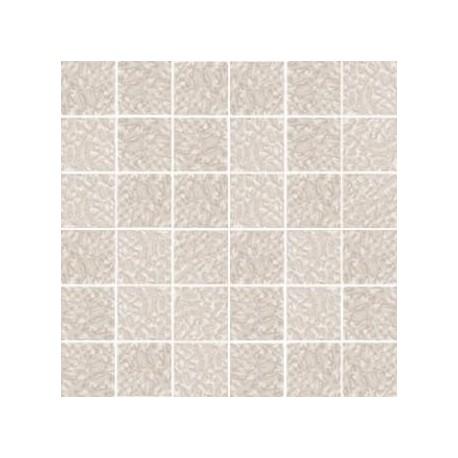 Mozaika szklana Biały Marmurek 30 x 30 kostka 4,8 cm