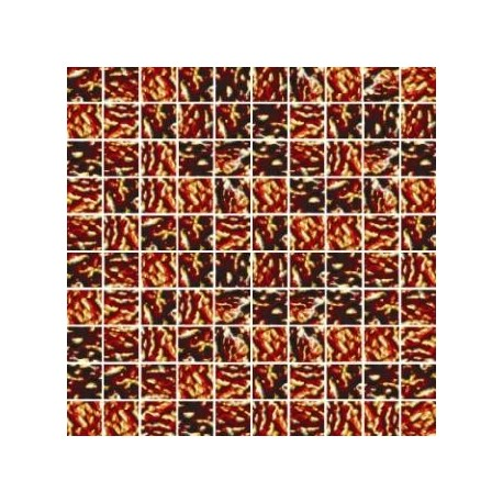 Mozaika szklana Złoty Marmurek 30x30 kostka 2,8 cm