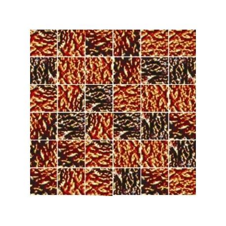 Mozaika szklana Złoty Marmurek 30 x 30 kostka 4,8 cm