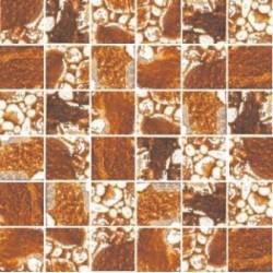 Mozaika szklana Złoto-Bursztyn Skałka 30 x 30 kostka 4,8 cm