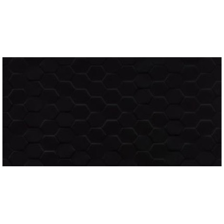 Cleo Black Hex Glass 30x60
