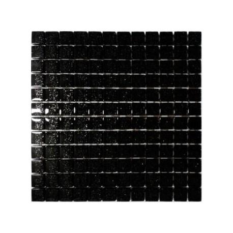 Mozaika szklana Czarny Brokat Srebrny 30x30 2,3cm
