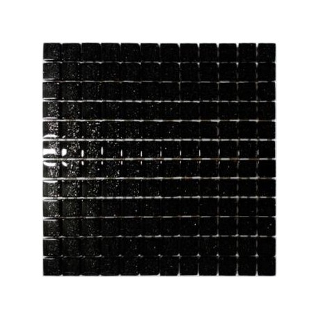 Mozaika szklana Czarny Brokat Srebrny 30x30 kostka 2,3cm