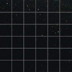 Mozaika szklana Czarny Brokat Srebrny 30x30 kostka 4,8cm