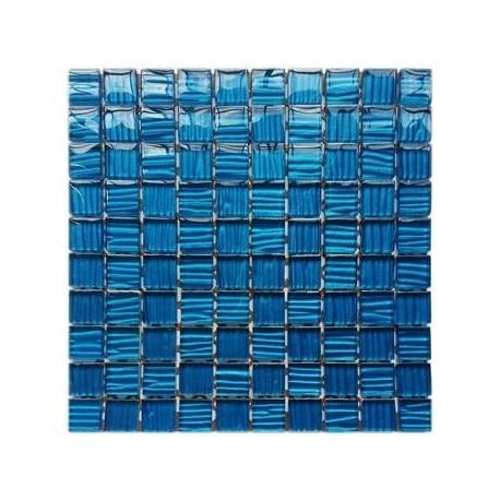 Mozaika szklana Niebieska Paski 30 x 30 kostka 2,8 cm