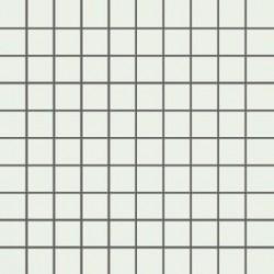 Mozaika szklana Biała 30 x 30 kostka 2,8 cm