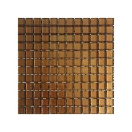 Mozaika Szklana Brąz 30 x 30 kostka 2,3 cm