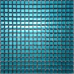 Mozaika szklana błękitna 30x30 kostka 1,5 cm