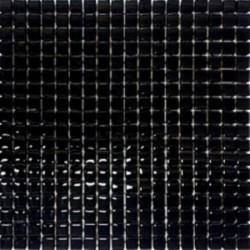 Mozaika Szklana Czarny Brokat Srebrny 30x30(1,5x1,5)