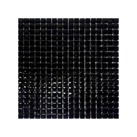 Mozaika Szklana Czarny Brokat Srebrny 30x30 kostka 1,5 cm