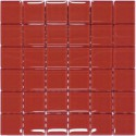 Mozaika szklana Karmin 30 x 30 kostka 4,8 cm
