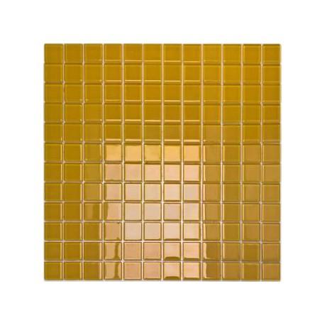 Mozaika szklana Żółta 30 x 30 kostka 2,3 cm