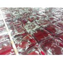 Mozaika szklana crackle Czerwień2 30x30 kostka 2,3