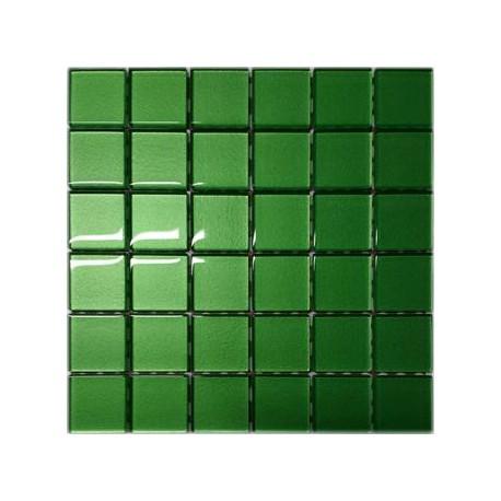 Mozaika szklana Zielona 30x30 kostka 4,8