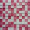 Mozaika szklana mix-pink 30x30