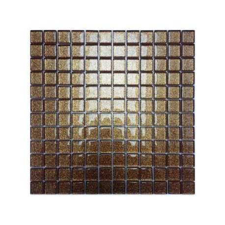 Mozaika szklana Brokat Brąz 30x30 2,3cm