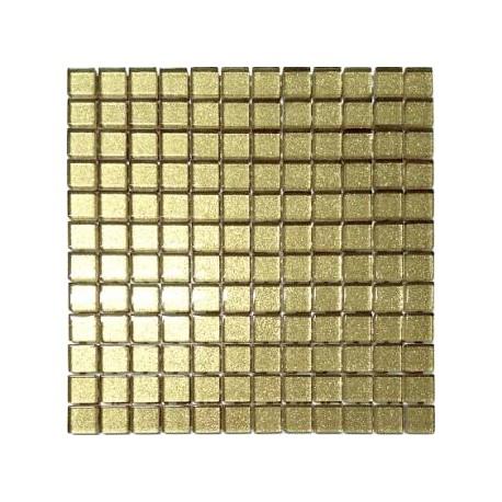 Mozaika szklana Brokat Złoty 30x30 kostka 2,3 cm